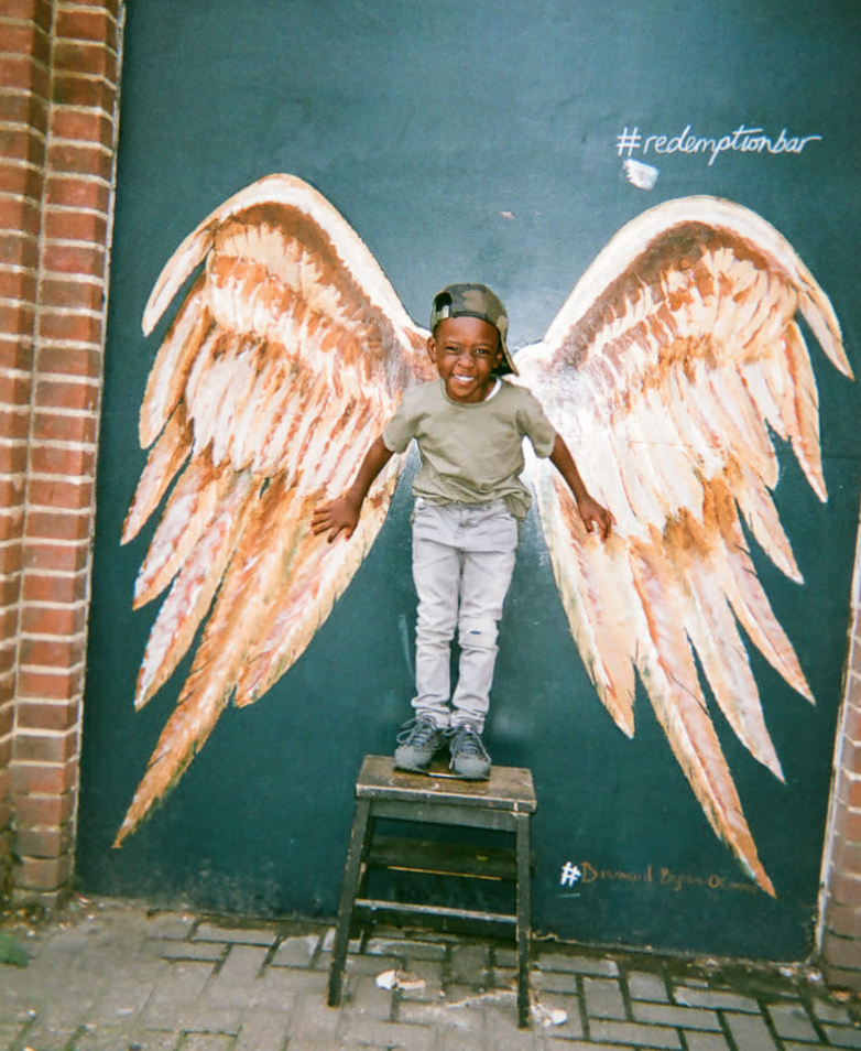 COVER OF 2018 CALENDAR: Angel Kid, Shoreditch.
