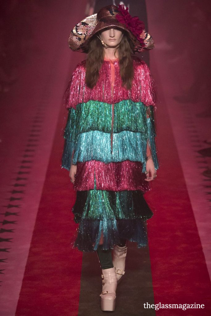 Gucci SS17 MFW tinsel dress