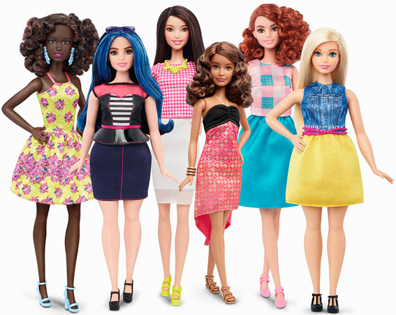 Barbie all shapes, sizes and colours