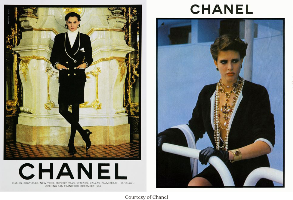 Photo of Chanel adverts in the 80s